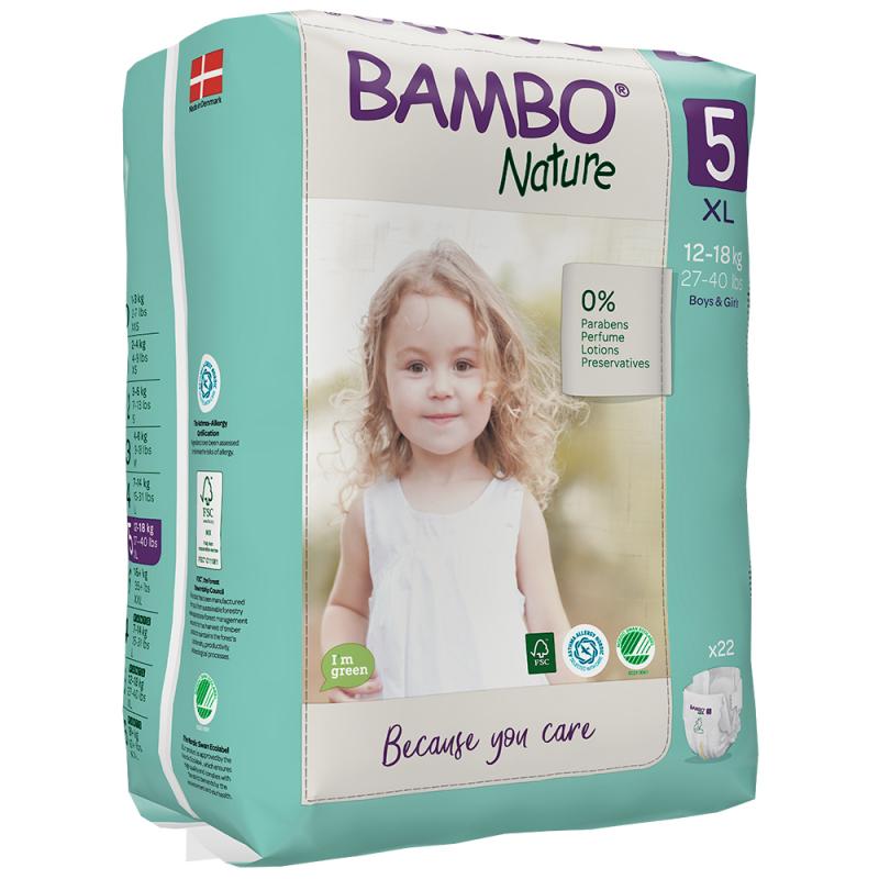 ABENA Bambo Nature 5 XL pro 12-18kg 22ks