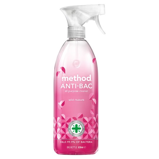 METHOD antibac univ. čistič 830ml Rebarbora