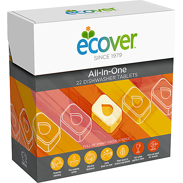 ECOVER tablety do myčky All-In-One, 22ks