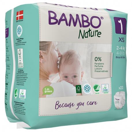 ABENA Bambo Nature 1 XS pro 2-4kg 22ks