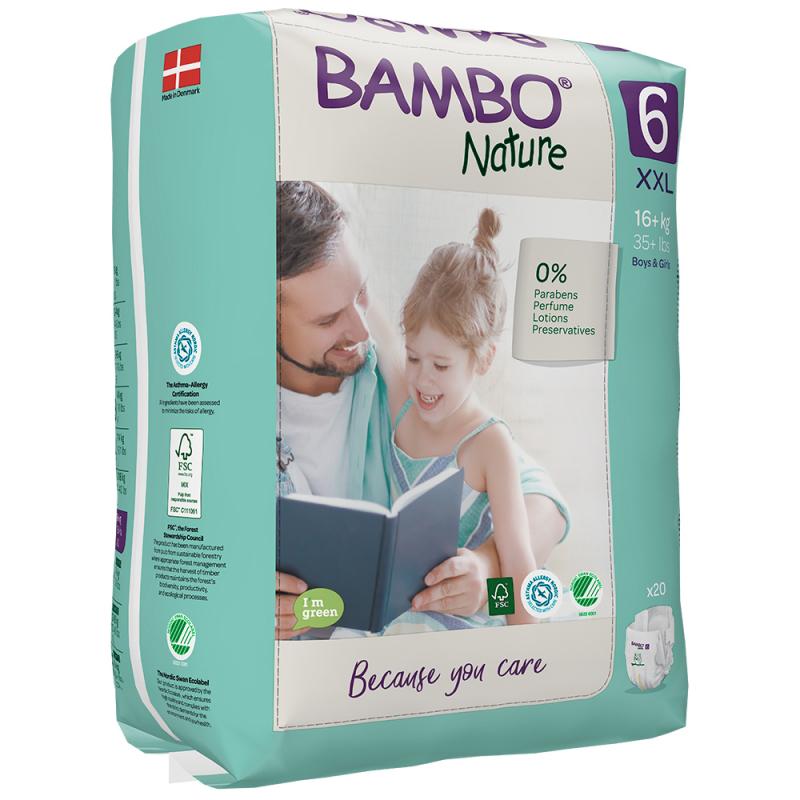 ABENA Bambo Nature 6 XXL od 16kg 20ks
