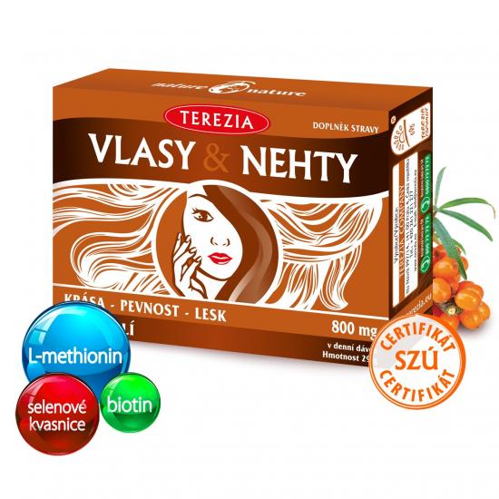 TEREZIA Vlasy a nehty 60 kapslí (exp. 31.3.2022)