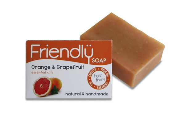 FRIENDLY SOAP mýdlo pomeranč a grep 95g
