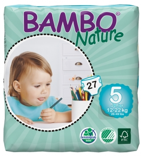 ABENA Bambo Nature plen.k. vel. 5 Junior pro 12-22 kg 27ks