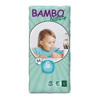 ABENA Bambo Nature plen.k. vel. 5 Junior pro 12-22 kg 54ks