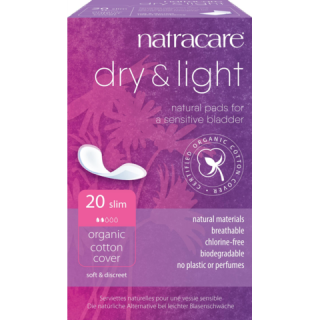 NATRACARE Dry + Light inko vložky slim 20ks