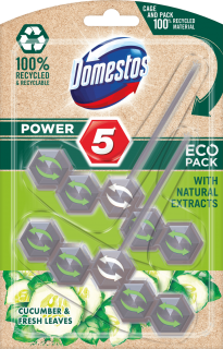 DOMESTOS Power 5 Cucumber ECO tuhý WC blok 55g, 2ks