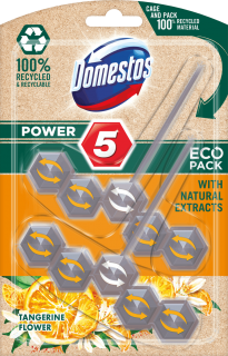 DOMESTOS Power 5 Tangerine ECO tuhý WC blok 55g, 2ks